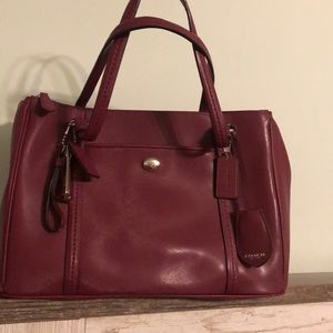 Coach satchel saffino leather. Great condition.